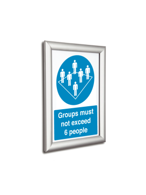 Silver 25mm Profile Snap Poster Frames - Multiple Sizes