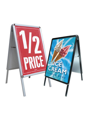 Poster Snap Frame A-Board - Multiple Sizes