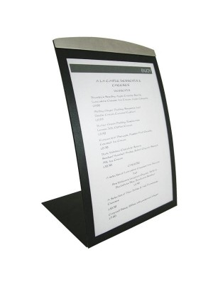 Black Delta Curved Table-Top Menu Displays