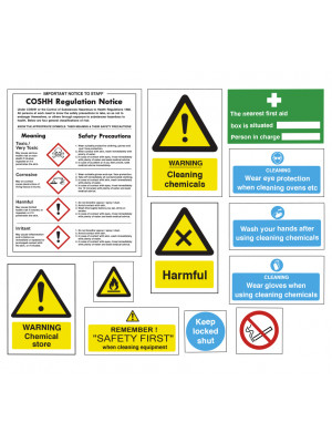 Safe Use & Storage of Chemicals Sign Pack - SUCPK