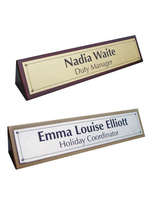 Wooden Desk Nameplate - Multiple Options
