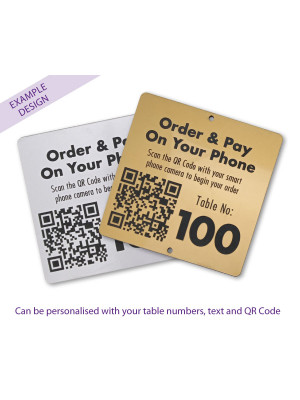 QR Code Table Number 100 x 100mm