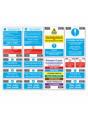 BKSPK - Branded Catering Health & Safety Starter Sign Pack