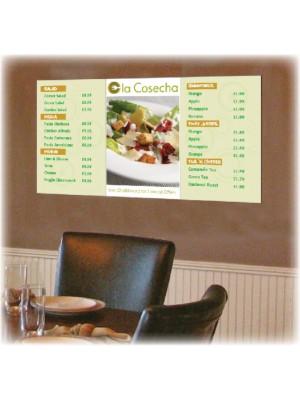 Digitally Printed Menu Boards - Multiple Sizes
