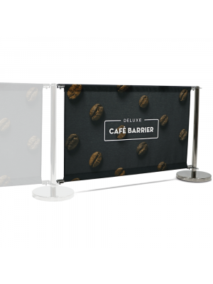 Deluxe Cafe Barrier Extension Kit - 1500mm Single Sided Print