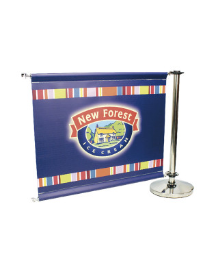 Single Sided Stainless Steel Cafe Barrier System - Add-On Set - Multiple Sizes