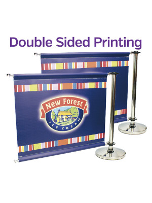 Double Sided Stainless Steel Cafe Barrier System - Add-On Set - Multiple Sizes