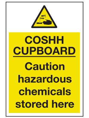 COSHH Cupboard Sign - CL022