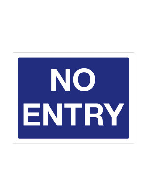 No Entry Exterior Notice - Mount Options