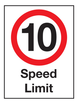 10 MPH Speed Limit Exterior Notice - Mount Options