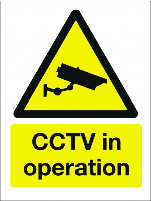 CCTV in Operation Sign - Multiple Sizes