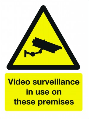 Video Surveillance in Use on These Premises Sign - Multiple Sizes