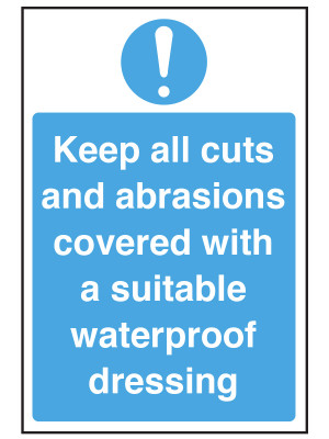 Keep All Cuts and Abrasions Covered Notice - CS006