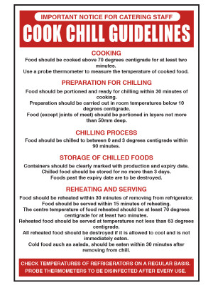 Cook Chill Guidelines Notice - CS046