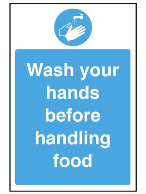 Wash Your Hands Before Handling Food Notice - CS088