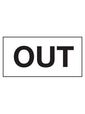 OUT Kitchen Door Sticker - CS097