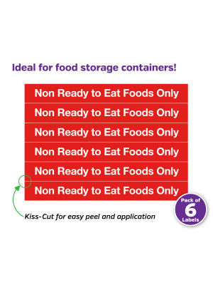 Non-Ready To Eat Food Only Labels