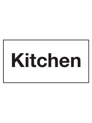 Kitchen Door Sticker - CS158