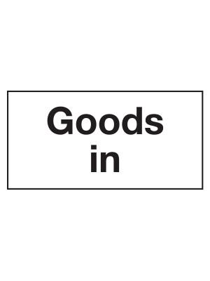 CS159 - Goods In Door Sticker - CS159