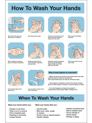 How to Wash Your Hands Notice
