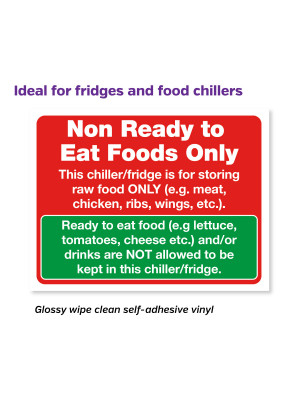 Non-Ready Foods Only Notice