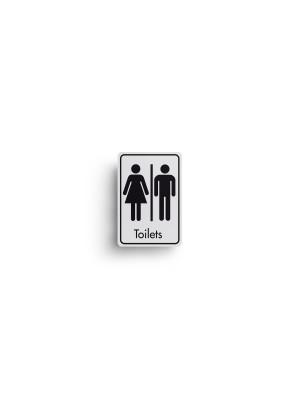 DM001 - Toilets Symbol with Text Door Sign