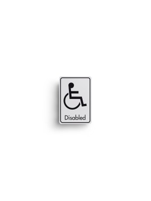 DM004 - Disabled Symbol with Text Door Sign