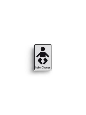 DM005 - Baby Change Symbol with Text Door Sign