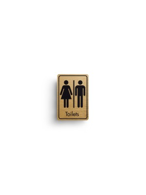 DM021 - Toilets Symbol with Text Door Sign