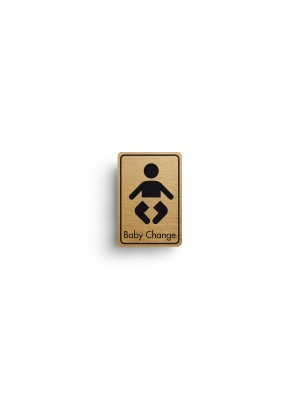 DM025 - Baby Change Symbol with Text Door Sign