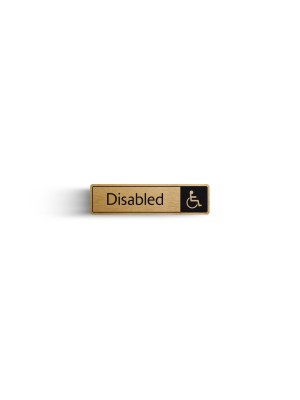 DM028 - Disabled with Symbol Door Sign
