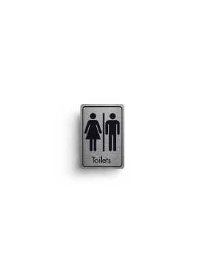 DM041 - Toilets Symbol with Text Door Sign