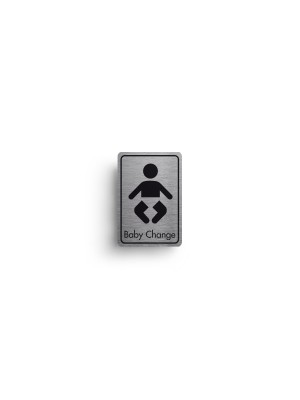DM045 - Baby Change Symbol with Text Door Sign