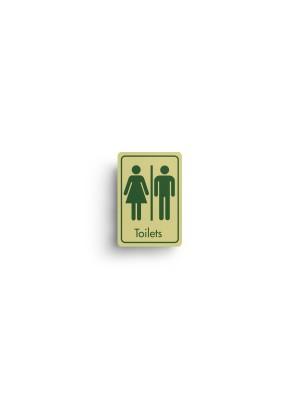 DM061 - Toilets Symbol with Text Door Sign