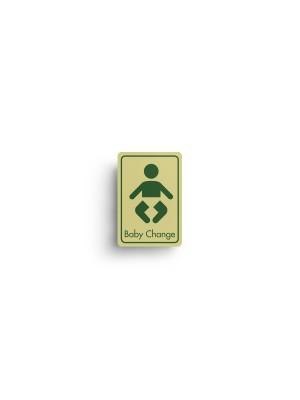 DM065 - Baby Change Symbol with Text Door Sign