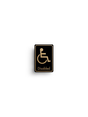 DM084 - Disabled Symbol with Text Door Sign