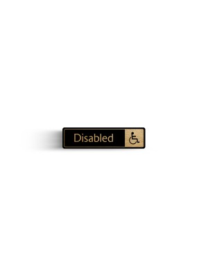 DM088 - Disabled with Symbol Door Sign