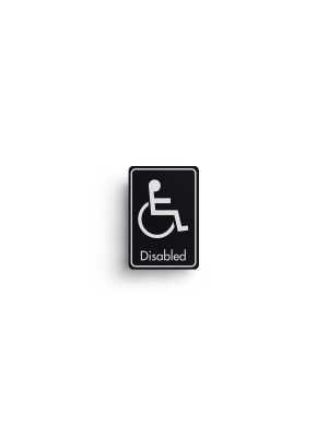 DM104 - Disabled Symbol with Text Door Sign
