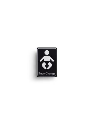 DM105 - Baby Change Symbol with Text Door Sign