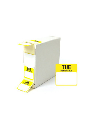 Tuesday 25x25mm Food Labels - DY045