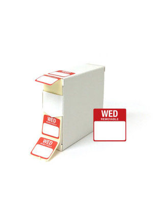 Wednesday 25x25mm Food Labels - DY046