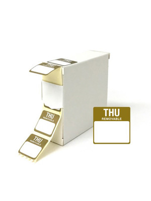 Thursday 25x25mm Food Labels - DY047