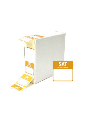 Saturday 25x25mm Food Labels - DY049
