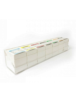 DY070 - Full Set of 50x50mm Day of The Week Food Labels WITH DISPENSER