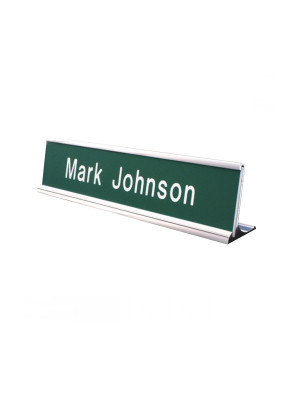 Aluminium Desk Nameplate - Multiple Colours