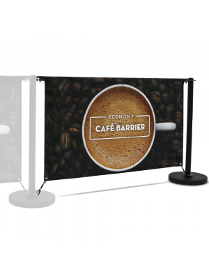 Economy Cafe Barrier Extension Kit - 1500mm Double Sided Print