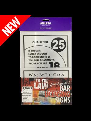 Essential Modern Bar Licensing Sign Pack