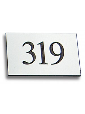 Engraved Rectangle Number Plaque - Multiple Colours
