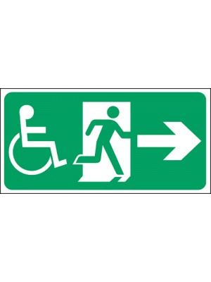 Disabled Exit Arrow Up 150x300mm