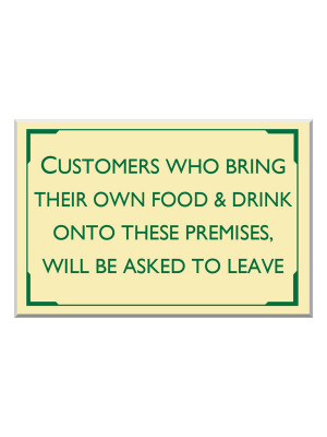 Exterior Food and Drink Disclaimer Notice - Multiple Options